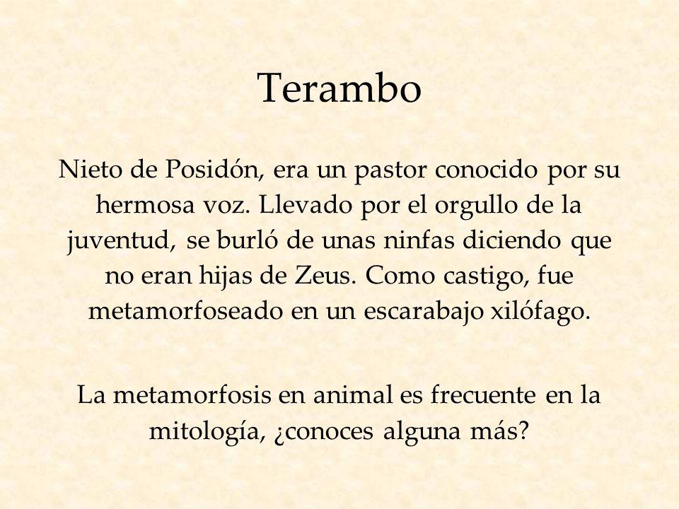 Terambo Nieto de Posidón, era un pastor conocido por su hermosa voz.