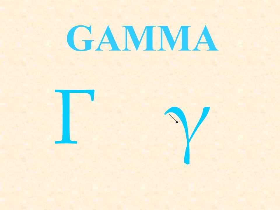 ΓγΓγ GAMMA