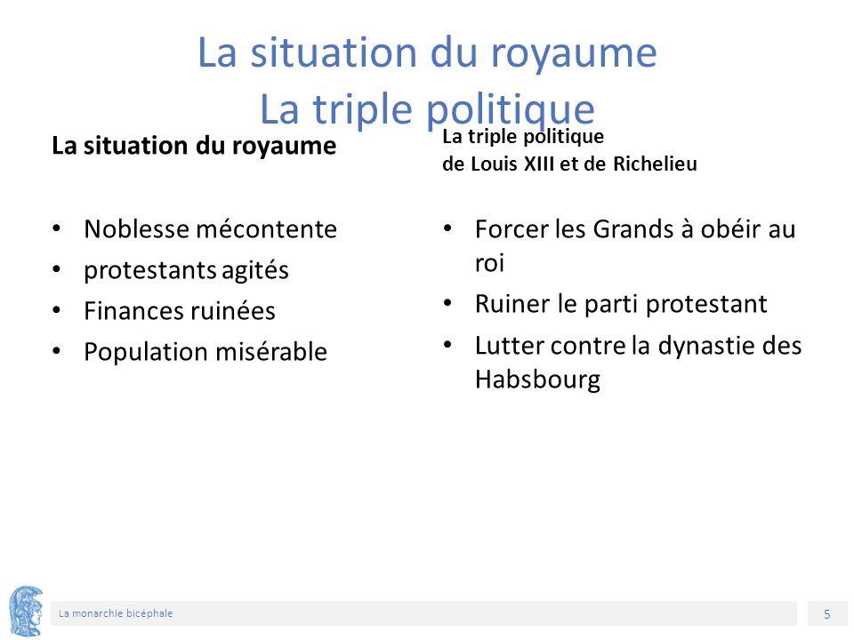 6 La monarchie bicéphale Les complots des Grands