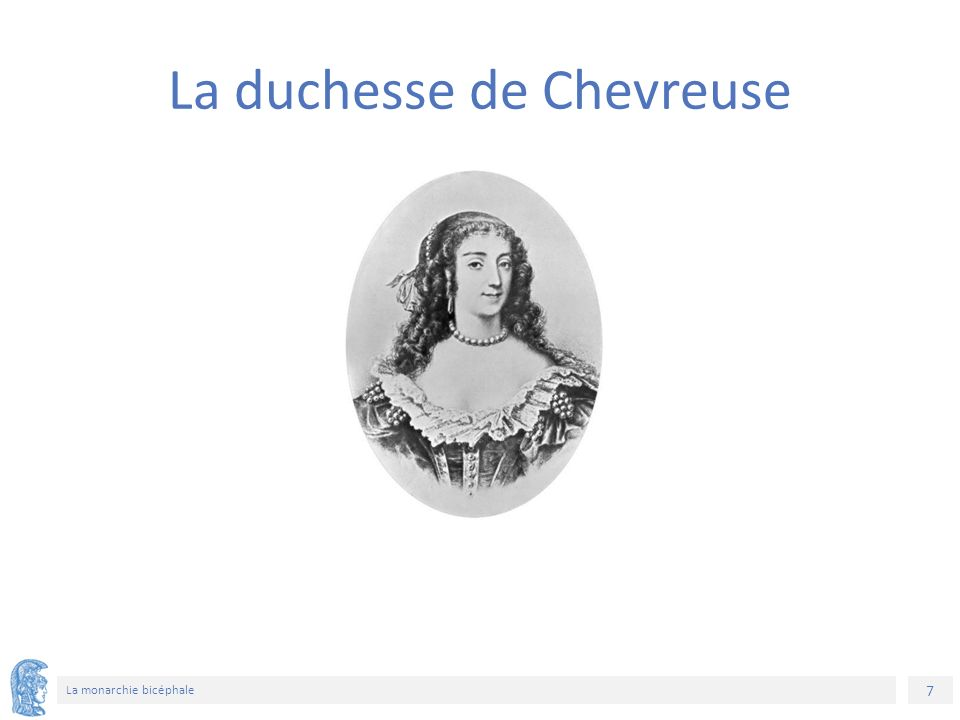 8 La monarchie bicéphale Marie de Rohan, duchesse de Chevreuse est la veuve du duc de Luynes Intrigante politique et conspiratrice, la duchesse de Chevreuse essaie de rapprocher Anne d'Autriche du duc de Buckingham La Rochefoucauld : « La reine parut à Buckingham encore plus aimable que son imagination ne lui avait représentée, et lui parut à la reine l'homme du monde le plus digne de l'aimer » Georges Villiers, comte puis duc de Buckingham 1592-1628 L'affaire Buckingham