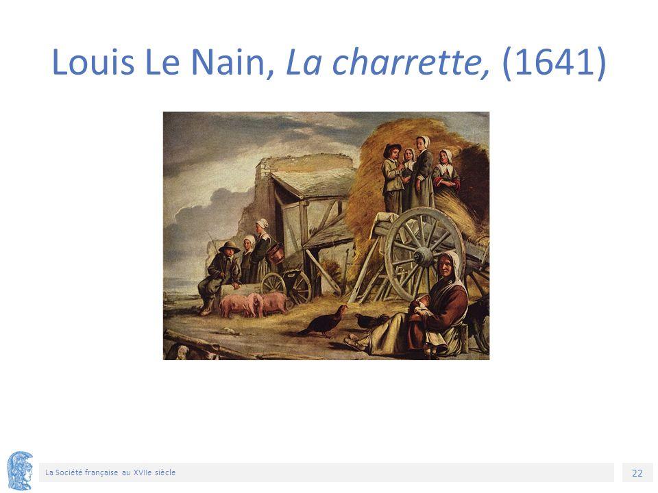 22 La Société française au XVIIe siècle Louis Le Nain, La charrette, (1641)