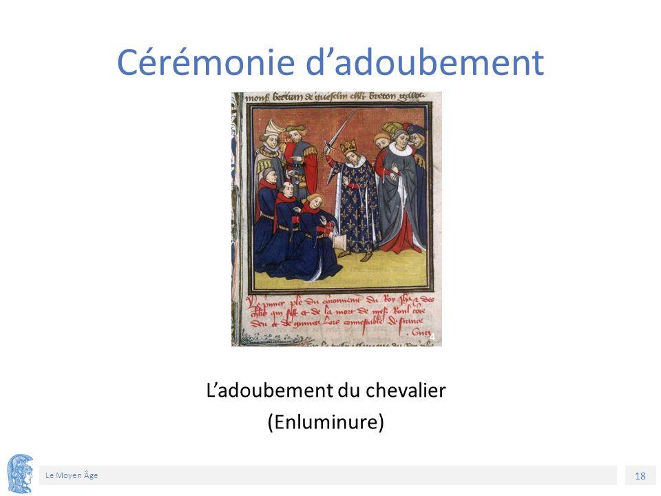 18 Le Moyen Âge L'adoubement du chevalier (Enluminure) Cérémonie d'adoubement 4