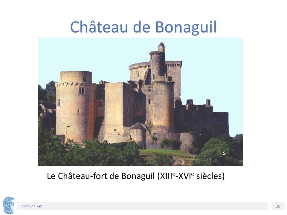 20 Le Moyen Âge Le Château-fort de Bonaguil (XIII e -XVI e siècles) Château de Bonaguil 5