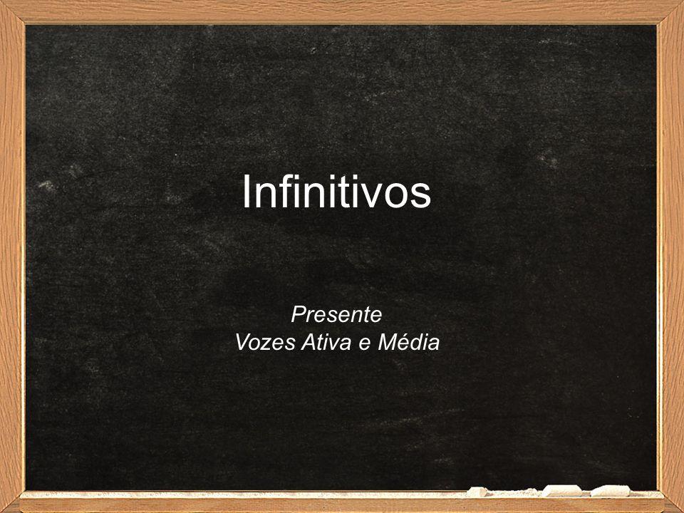 Infinitivos Presente Vozes Ativa e Média