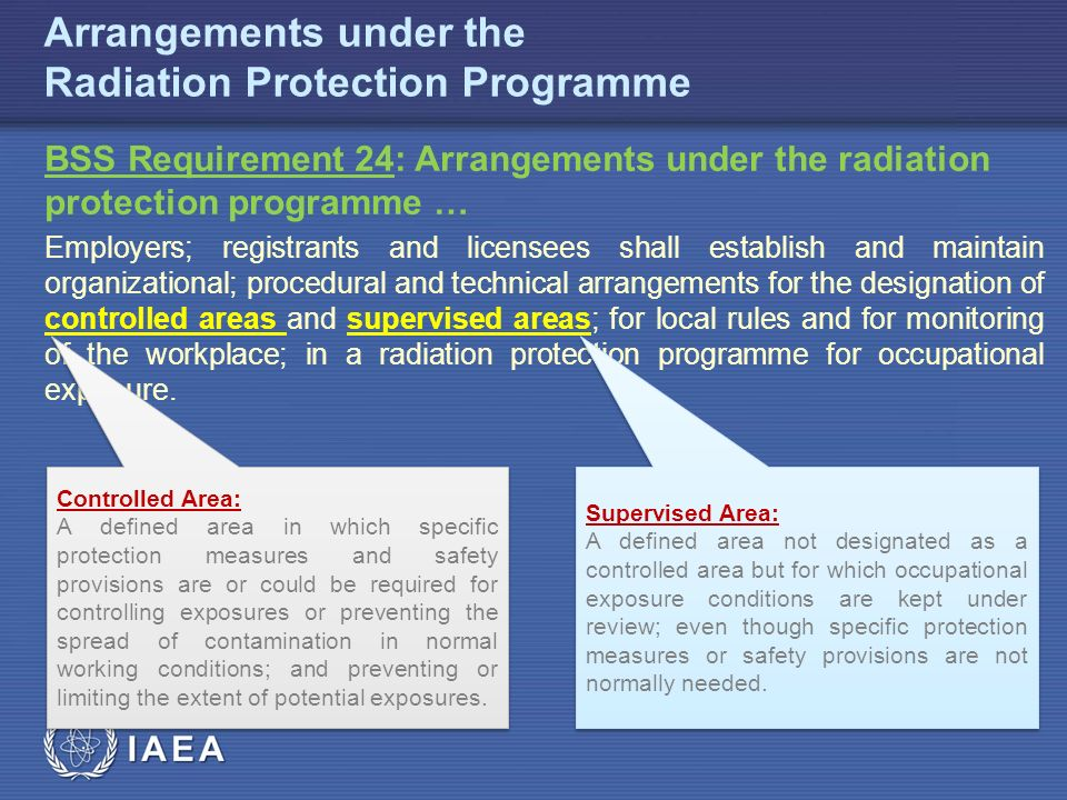 IAEA Arrangements under the Radiation Protection Programme PERSONAL PROTECTIVE EQUIPMENT Lead aprons should be worn when entering a room with hybrid imaging (e.g.