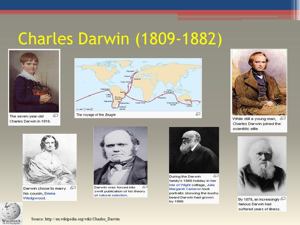 Charles Darwin (1809-1882) Source: http://en.wikipedia.org/wiki/Charles_Darwin