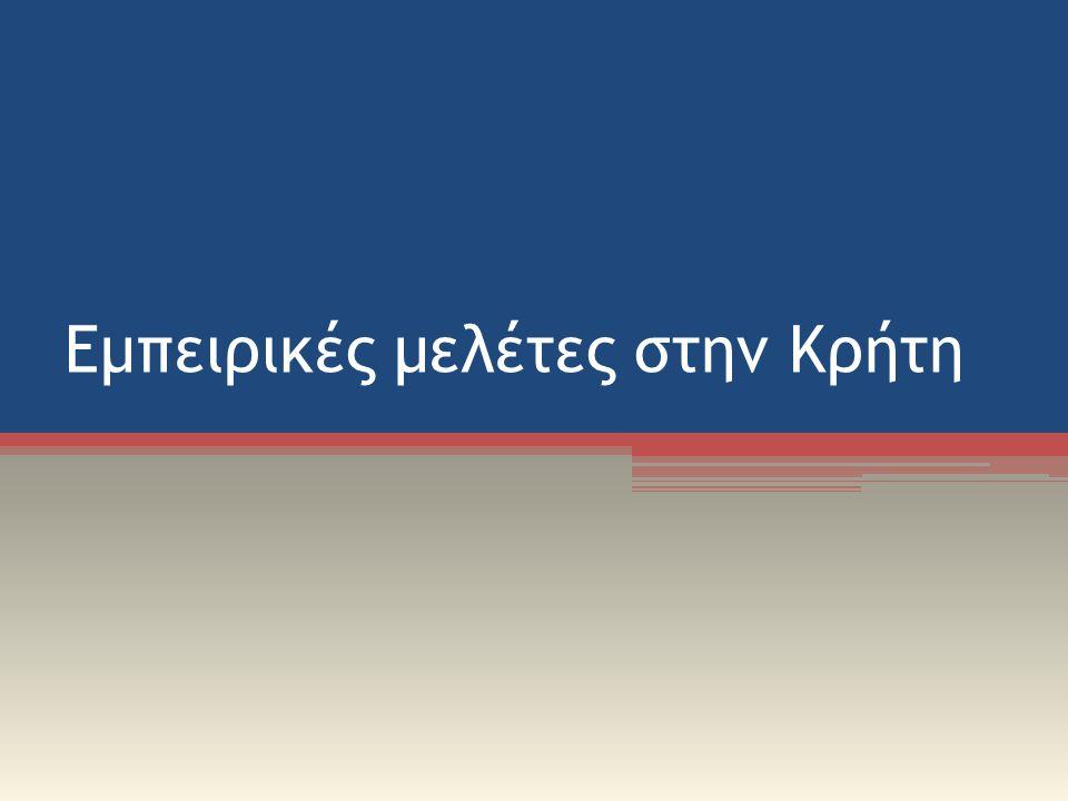 Εμπειρικές μελέτες στην Κρήτη