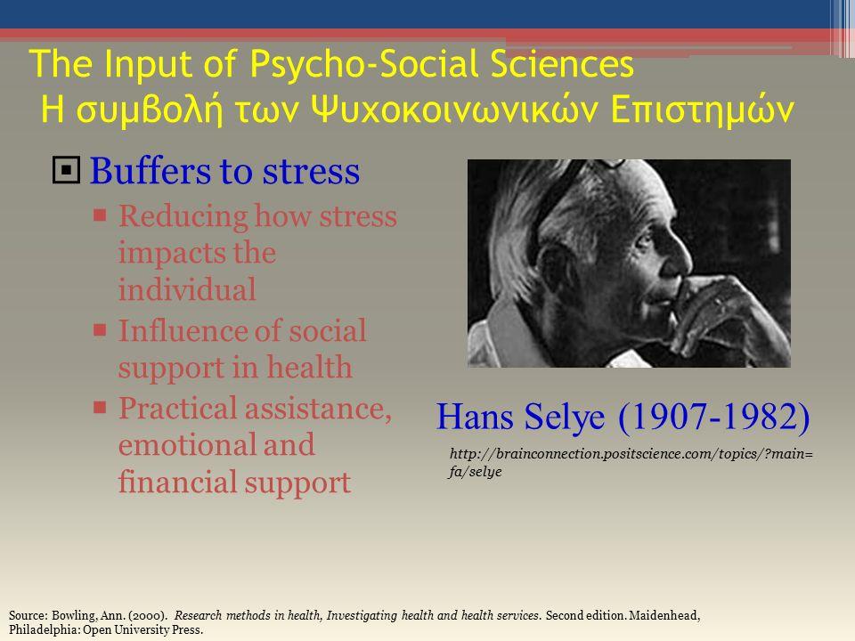 The Bio-psychosocial Model in Medicine Βίο-ψυχοκοινωνικό Μοντέλο στην Ιατρική Theorized by psychiatrist, George L.