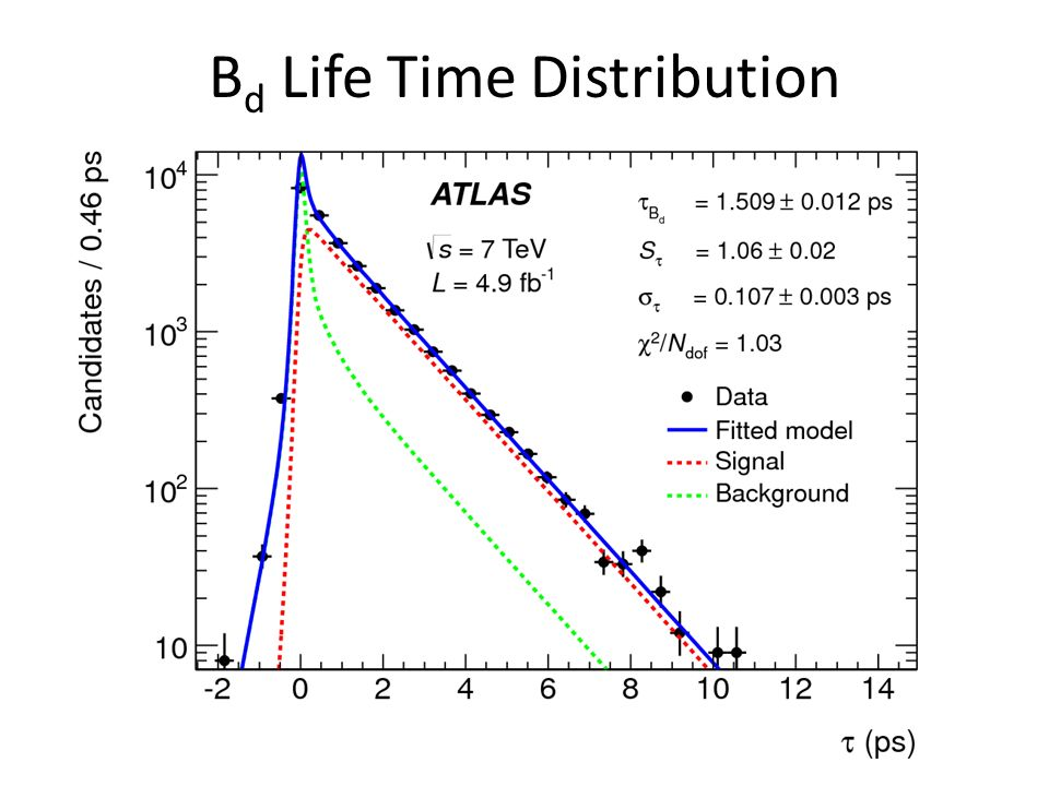 B d Life Time Distribution