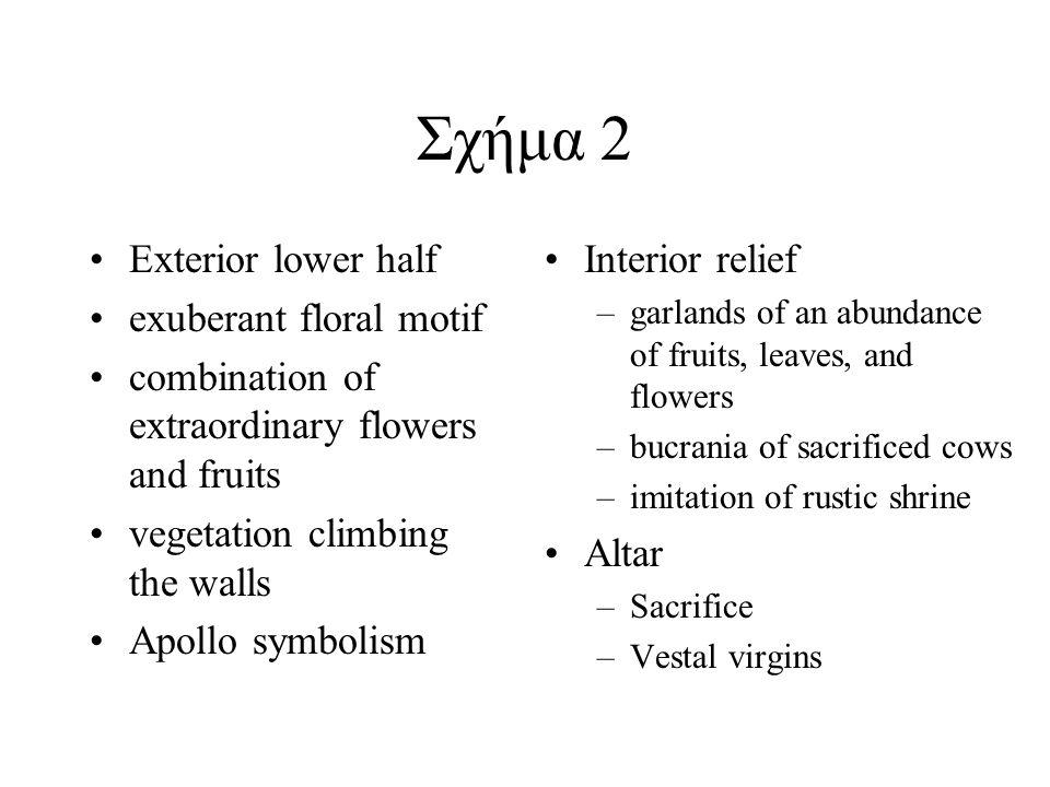 Interior walls Symbols of sacrifice - garlands, boukrania.