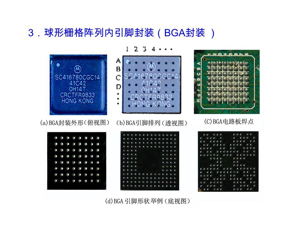 3 .球形栅格阵列内引脚封装( BGA 封装 )