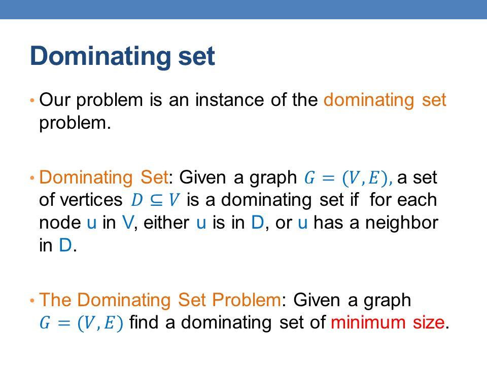 Dominating set