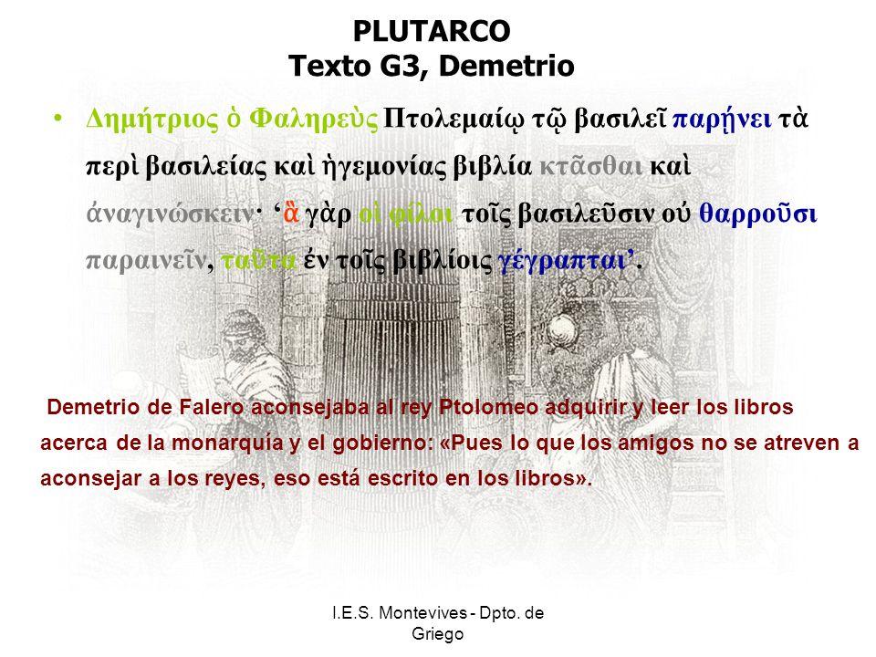 I.E.S.Montevives - Dpto. de Griego LISIAS Texto H1, Las amazonas 1.