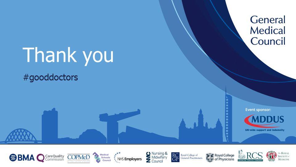 Thank you #gooddoctors