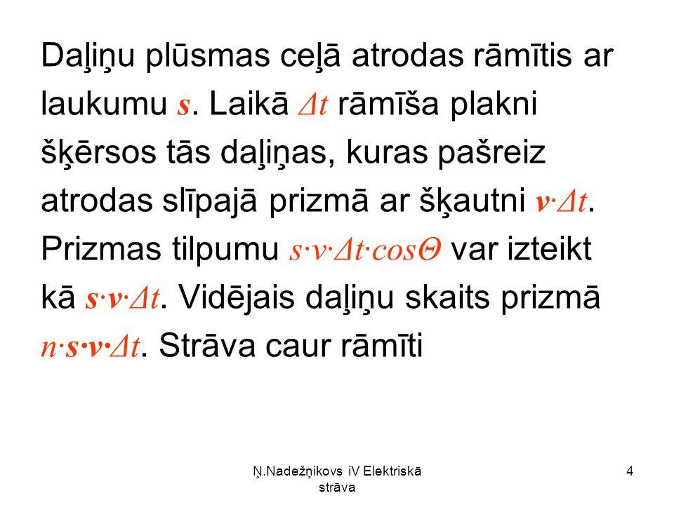 Ņ.Nadežņikovs iV Elektriskā strāva 25 Iegūtā izteiksme rāda, ka aplūkotā sistēma pakļaujas Oma likumam.