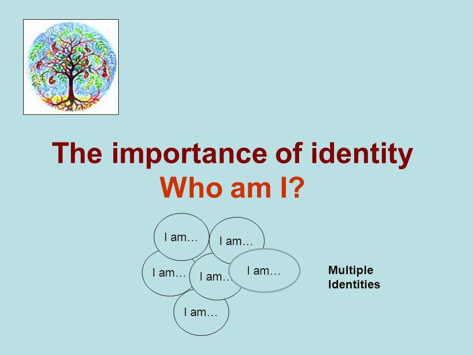 The importance of identity Who am I? I am… Multiple Identities I am…