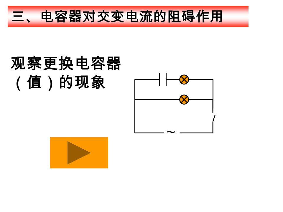 三、电容器对交变电流的阻碍作用