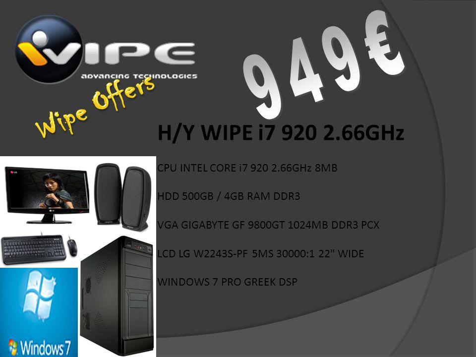 H/Y WIPE QUAD CORE 3.00 GHz 4GB RAM HARD DISK 1TB VGA GFORCE 9800GT 1GB DDR3 WINDOWS 7 PROFESSIONAL LG MONITOR 24 CREATIVE INSPIRE 5.1
