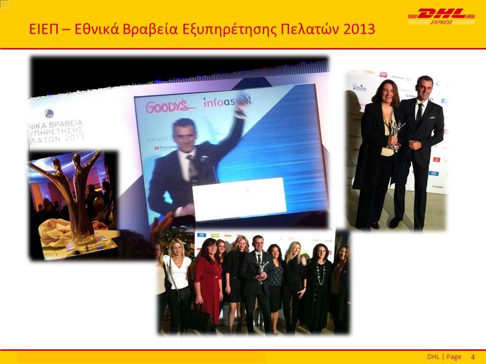 DHL | PageΕθνικά Βραβεία Εξυπηρέτησης Πελατών | Αθήνα | 16 Δεκεμβρίου 2013 44 ΕΙΕΠ – Εθνικά Βραβεία Εξυπηρέτησης Πελατών 2013