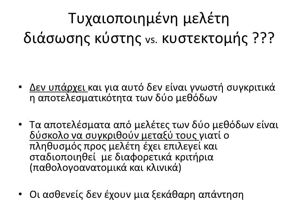 Τυχαιοποιημένη μελέτη διάσωσης κύστης vs. κυστεκτομής .