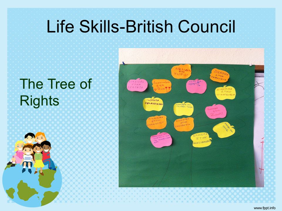 Life Skills-British Council The Tree of Rights