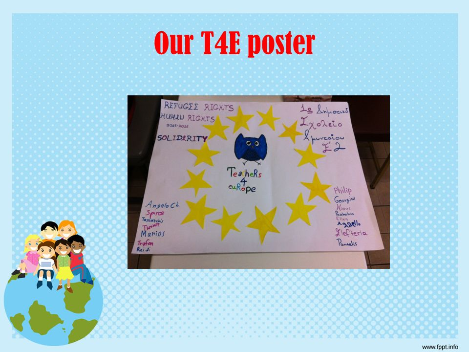 Our T4E poster