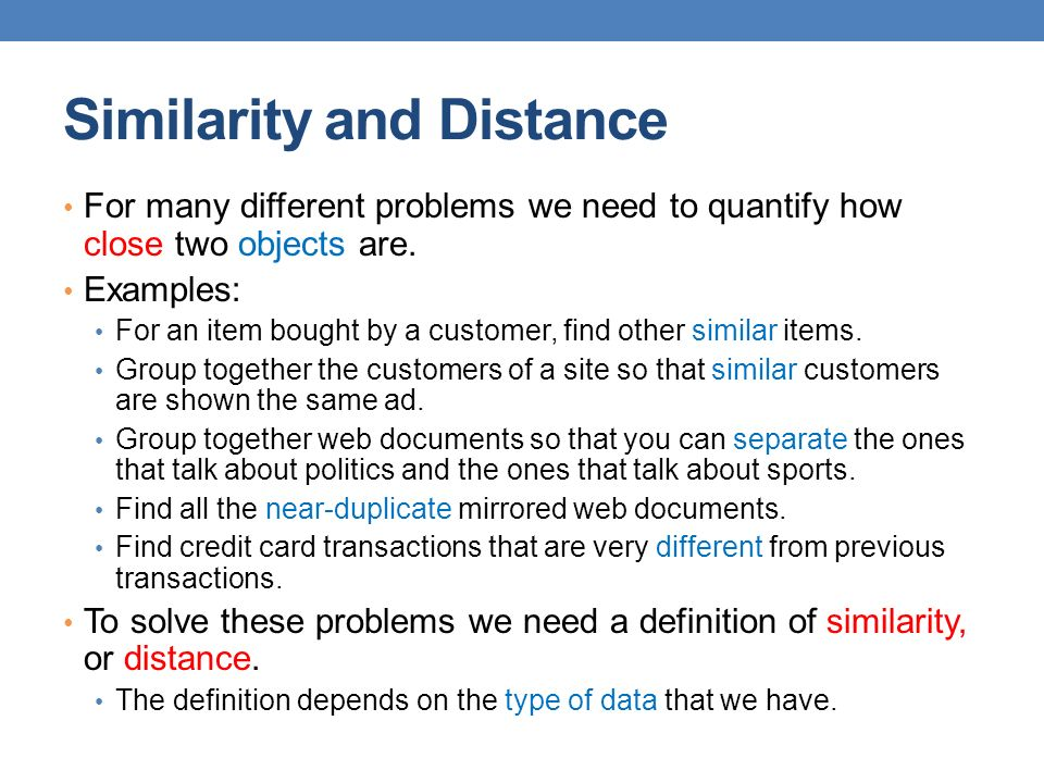 26 Hamming Distance Hamming distance is the number of positions in which bit-vectors differ.