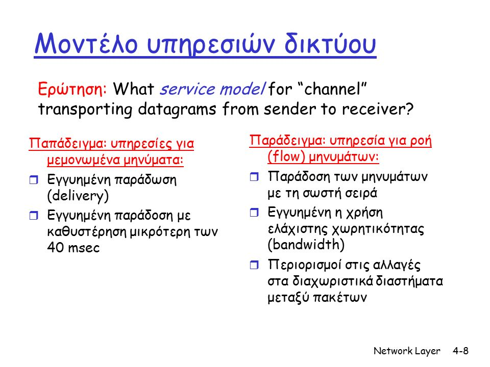 Network Layer4-59 Chapter 4: Network Layer r 4.
