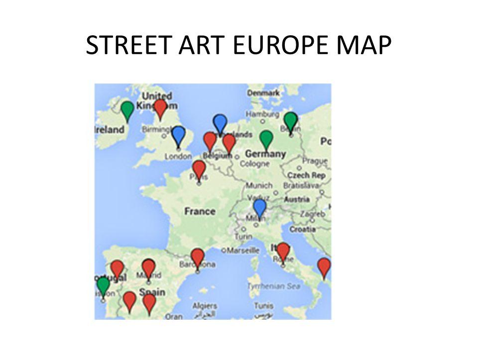 STREET ART EUROPE MAP