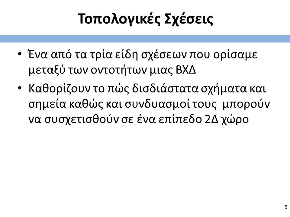 ΒΧΔ (Χωρικά Δεδομένα) και Τοπολογία Eghennofer David Mark Clementini Eliseo Rolland Billen Dimos Pantazis 6