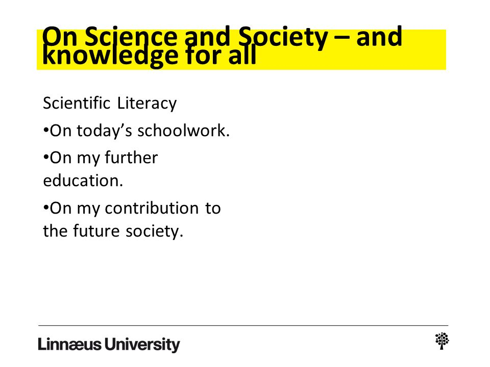 Science and technology for all?