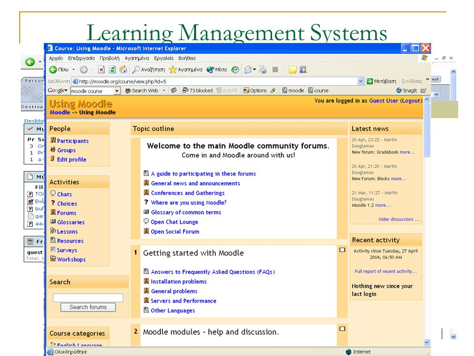 Learning Management Systems blackboard
