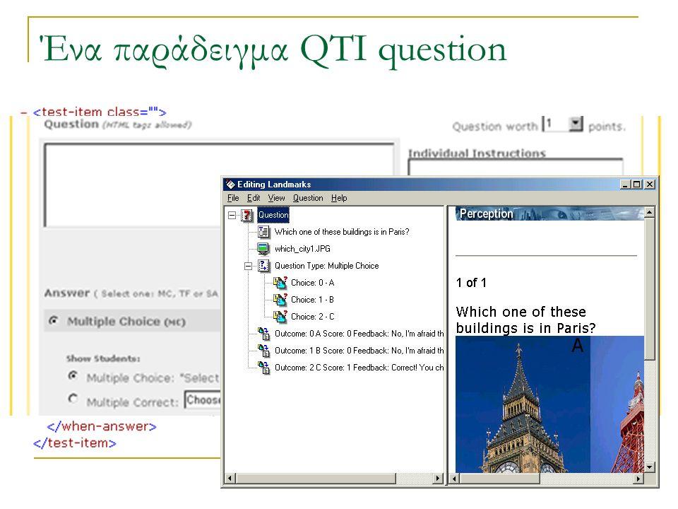 Ένα παράδειγμα QTI question