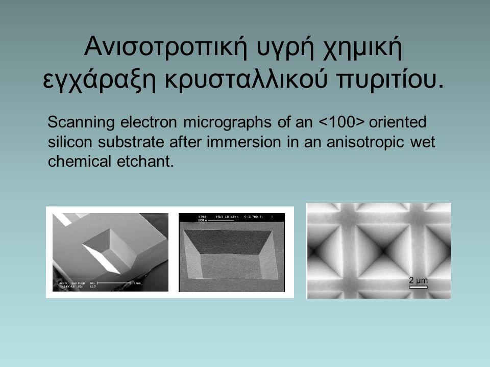 Ανισοτροπική υγρή χημική εγχάραξη κρυσταλλικού πυριτίου.