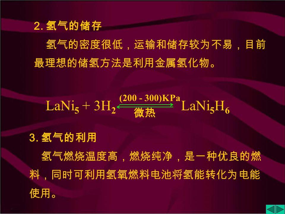 9.3.3 氢 能 氢能是指以氢作为燃料时释放出来的热能。 1.
