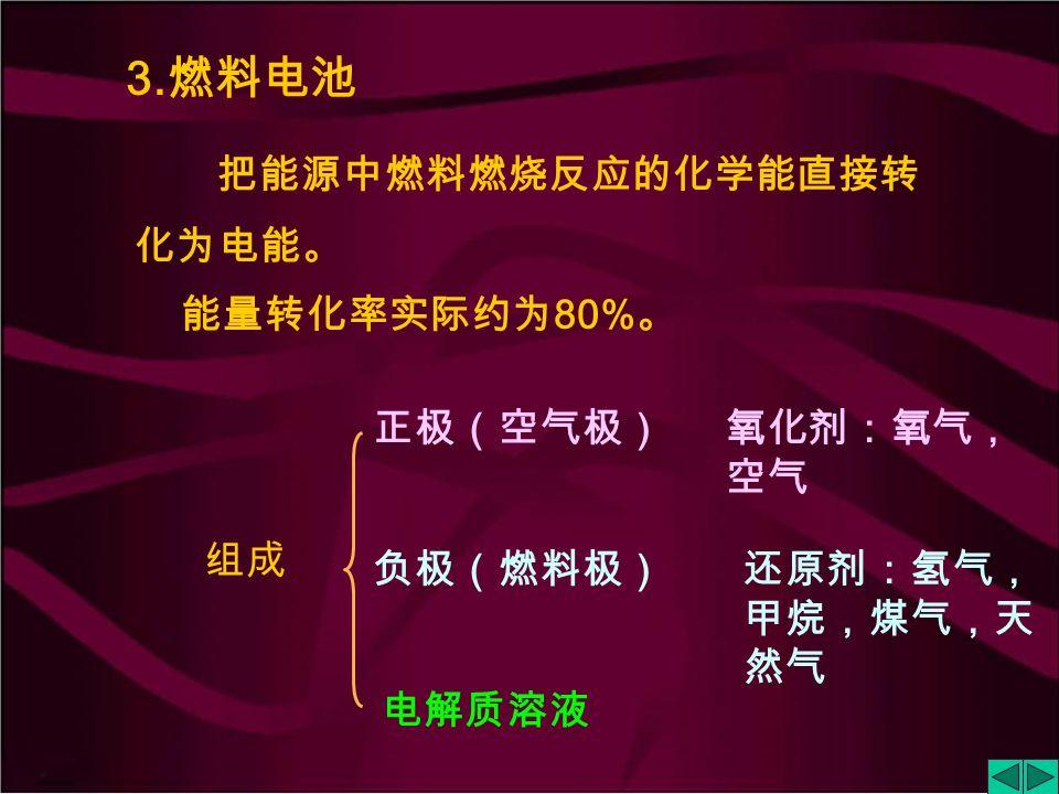 (3) 钠硫电池 (-) Na | β—Al 2 O 3 | S+Na 2 S x | C (+) (2) 镍氢电池 (-) C | H 2 | KOH | NiOOH (+)