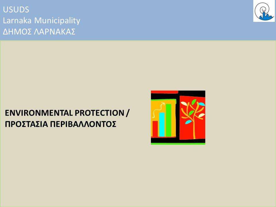 USUDS Larnaka Municipality ΔΗΜΟΣ ΛΑΡΝΑΚΑΣ ENVIRONMENTAL PROTECTION / ΠΡΟΣΤΑΣΙΑ ΠΕΡΙΒΑΛΛΟΝΤΟΣ