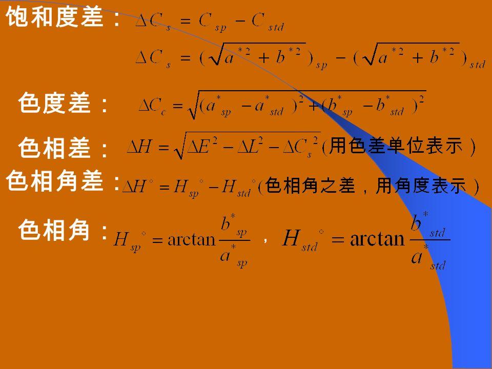 有了基本参数后,就可计算各种属性差值了: 亮度差: