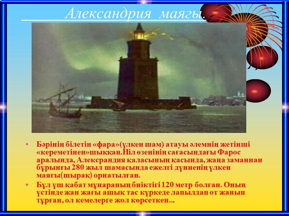 Александрия маягы.