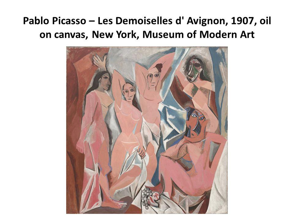 Pablo Picasso – Les Demoiselles d' Avignon, 1907, oil on canvas, New York, Museum of Modern Art