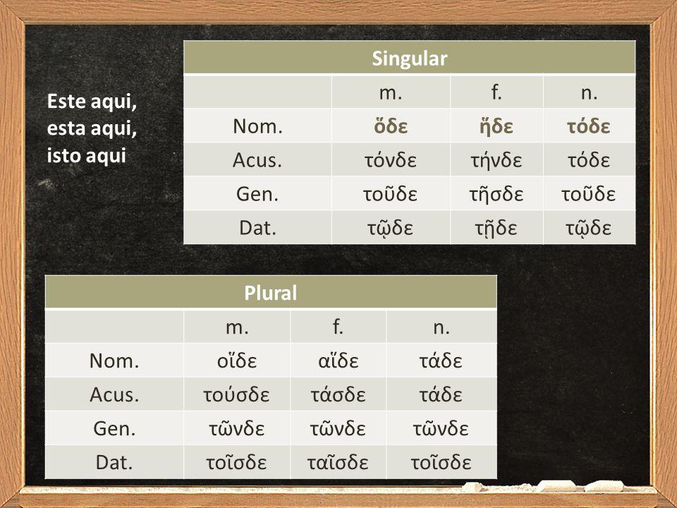 Singular m.f.n.