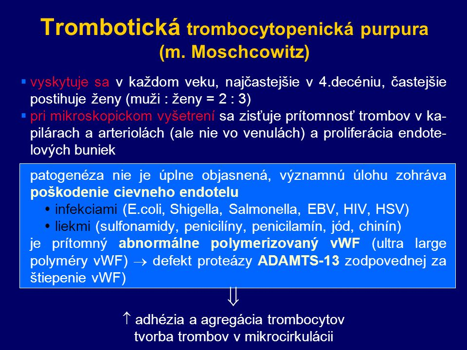 Trombotická trombocytopenická purpura (m.