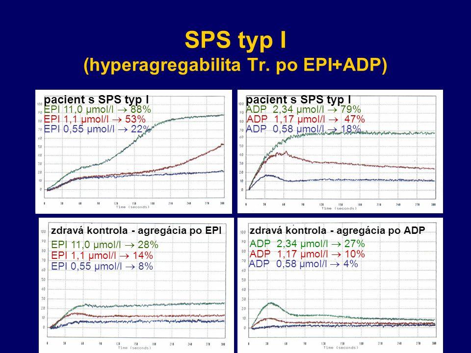 SPS typ I (hyperagregabilita Tr.