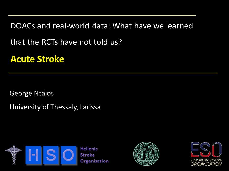 Disclosures Scholarships: European Stroke Organization; Hellenic Society of Atherosclerosis.