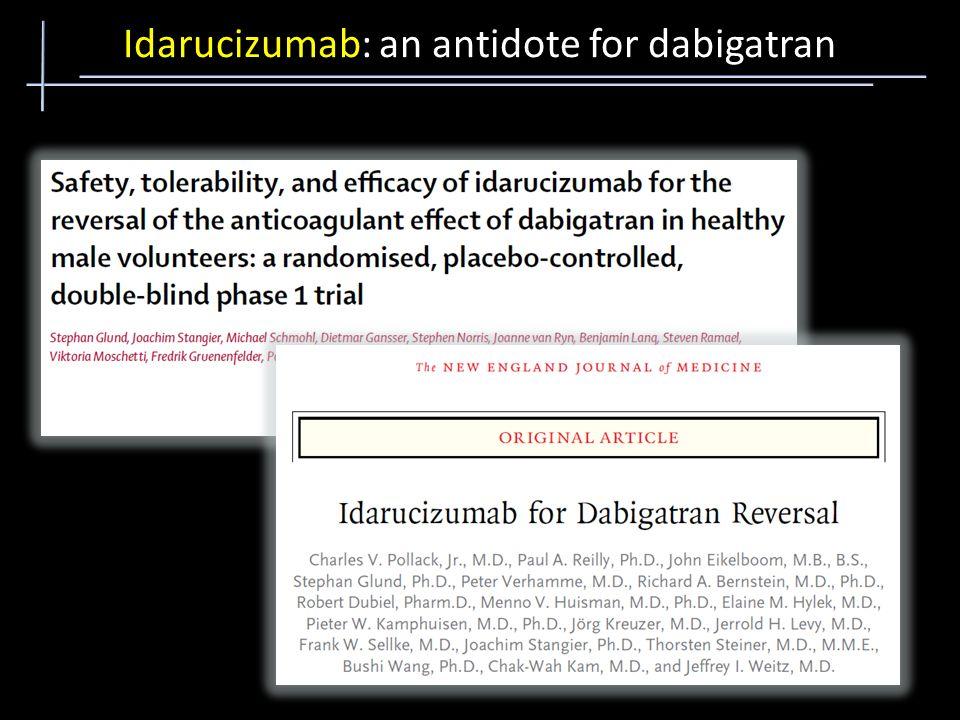 Idarucizumab: an antidote for dabigatran