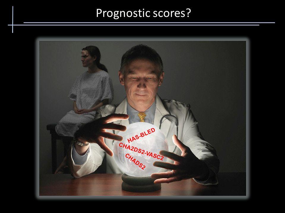 Prognostic scores HAS-BLED CHA2DS2-VASC2 CHADS2