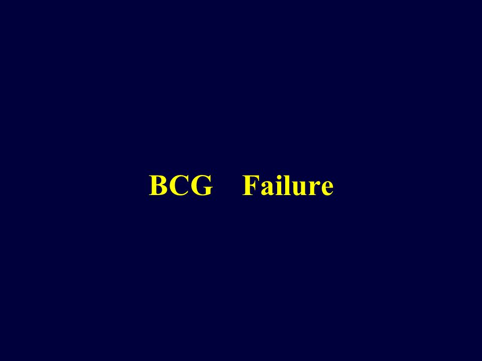 BCG Failure