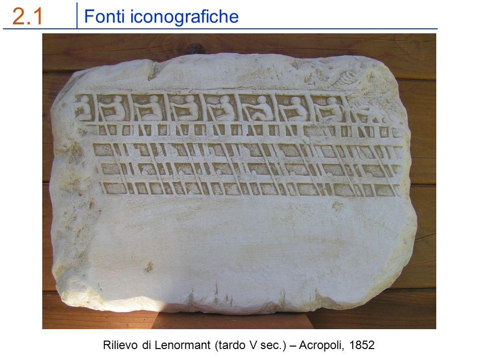 Fonti iconografiche 2.1 Rilievo di Lenormant (tardo V sec.) – Acropoli, 1852