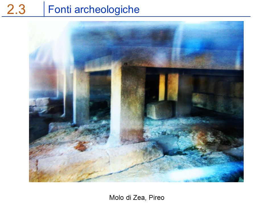 Fonti archeologiche 2.3 Molo di Zea, Pireo