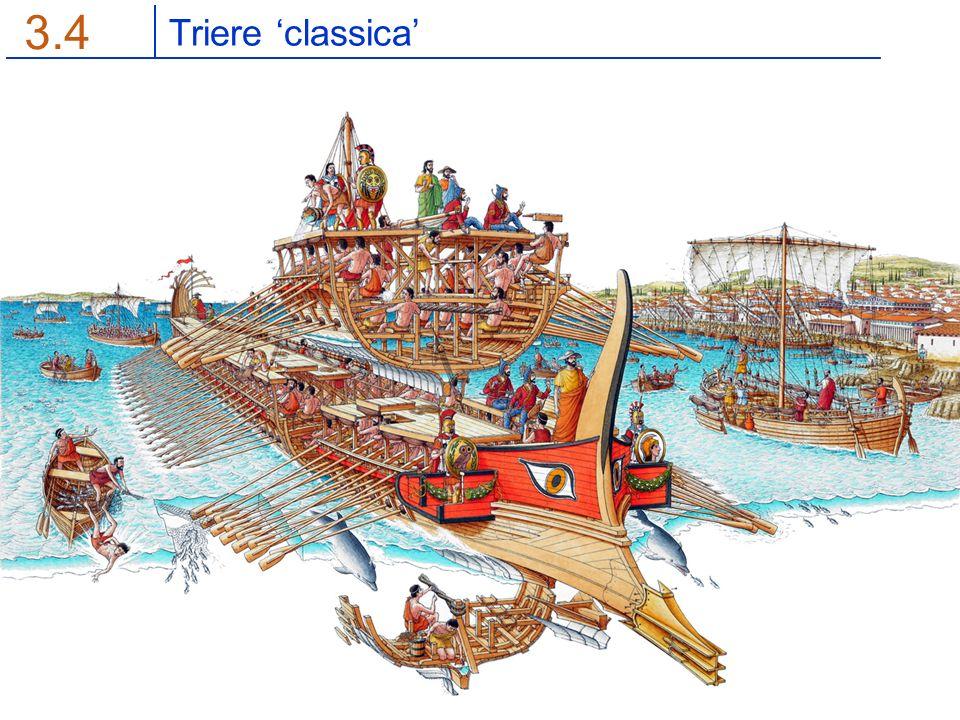 Guerra del Peloponneso 5.5 Distinzione molto meno netta No reale supremazia ateniese Dottrina navale = disputa ideologica Flotta simbolo delle classi povere Ostilità e rivalità con l'ideologia oplitica